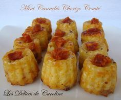 Mini cannelés salés pour l'apéritif! - Les délices de Caroline Tapas, Pie Crumble, Cuisine Diverse, Fruit Tart, Finger Foods, Brunch, Food And Drink, Appetizers, Cooking Recipes