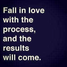 Fall in love with the process, and the results will come.  A great quote to remember as you build your brand and business!