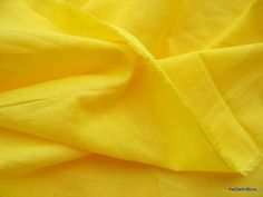 Extra Wide Plain Yellow Rayon Blend Cotton Voile Fabric by Yard (7.00 USD) by theDelhiStore
