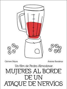 Another great gaspacho-themed poster for Mujeres al borde de un ataque de nervios