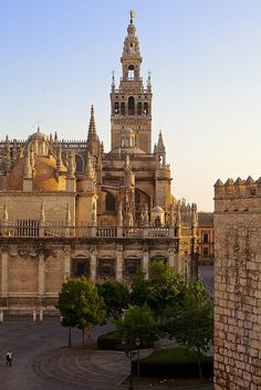 Giralda in Seville - Andalusia, Spain Medieval City, Sevilla Spain, Andalusia Spain, Southern Europe, Place Of Worship, Barcelona Cathedral, Places To See, Beautiful Places, Amazing Places