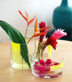 DIY: Graphic Neon Vase — Happy Mundane + Justina Blakeney