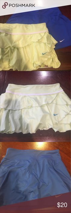 Nike tennis shorts 2 Nike tennis skirts gently used! With shorts built in underneath Skirts