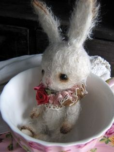 Pattern to make a little baby bunny  Instand by theoldpincushion