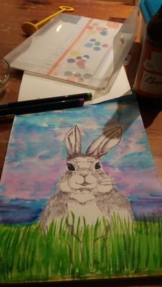 Rabbit & brush pens