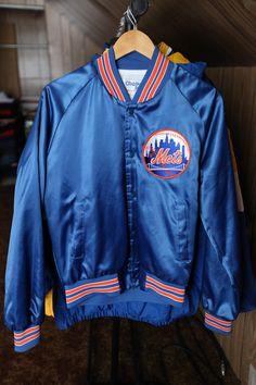 72974c54d15381 Vintage 80 s New York Mets Chalk Line Satin Jacket SZ M