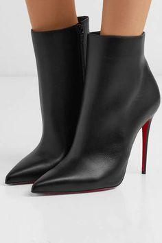 de24fb38b Christian Louboutin So Kate 110 Leather Ankle Boots - Black - ShopStyle