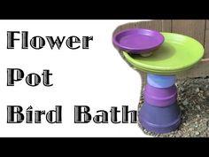 Flower Pot Bird Bath   ThriftyFun