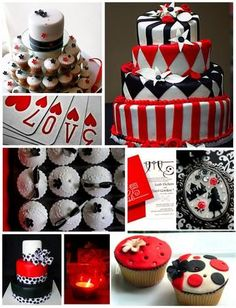 Cupcakes and cakes with a #Casino theme!