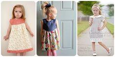 """Rozeta handmade: Z cyklu: """"Szyciowe inspiracje"""": Sukienki dla małych dziewczynek:-) easy dress for a little girl"""