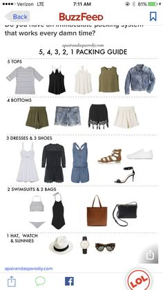 Packing The Perfect Camping Cooking Gear – CamperSpace Summer Packing Lists, Weekend Packing, September Outfits, Cruise Outfits, Cruise Clothes, Travel Outfits, Capsule Wardrobe, Travel Wardrobe, Preppy Wardrobe