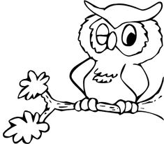 printable owl coloring page - Cute Owl Printable Coloring Pages