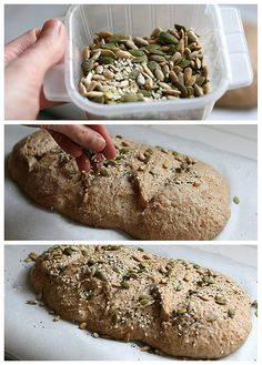 Whole Grain Roasted Garlic and Rosemary Crusty Bread (step by step instructions to bake healthy artisan bread) by Perry's Plate Artisan Food, Artisan Bread, Cooking Bread, Bread Baking, Bread Recipes, Baking Recipes, Craving Carbs, Healthy Baking, Healthy Foods