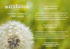 pachet 1 mai - Grand Hotel Balvanyos