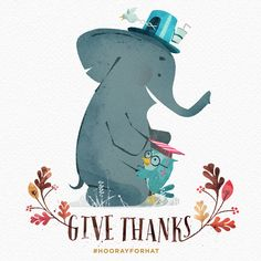 Happy Thanksgiving! Illustrations from Hooray for Hat! by Brian Won