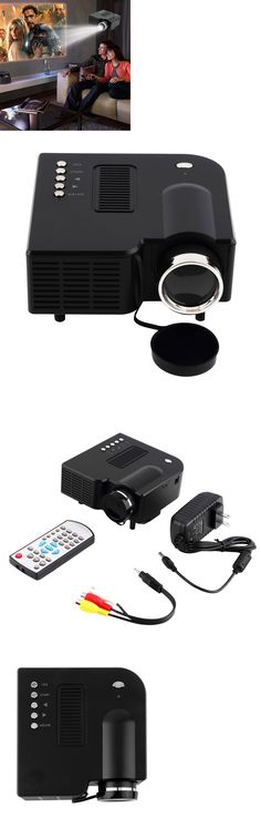Home Theater Projectors: 1080P Hd Multimedia Led Mini Projector Home Theater Cinema Video Av Tv Vga Hdmi BUY IT NOW ONLY: $34.85