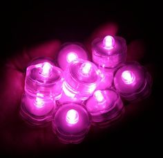 12 Pack~Hot Pink LED Battery Operated Submersible Tea Lights~Wedding, Party, Centerpiece, Floral Arrangement~The Underwater TeaLight~BlueDot Trading:Amazon:Home Improvement