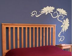 Wall Decal - single-coloured no.UL124 Flower Tendril