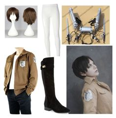 """Attack in Titan cosplay- Eren Jaeger"" by lucy-the-llama on Polyvore featuring Nicole Miller and Rick Owens Lilies"