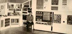 Raymond Scott in his studio.