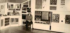 Raymond Scott in his studio.