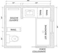 18 plans de salle de bains de 5 11 m dcouvrez nos plans gratuits wc recherche and lavabos - Plan Salle De Bain Avec Wc
