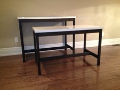 Picture of Bar Table and Desk - Using IKEA Table Tops (VIKA AMON)