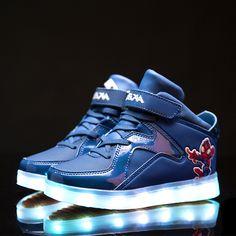 [Presente:pequeña toalla]Dorado EU 45, Zapatos Light de Silver plata LED manera Hombres colo