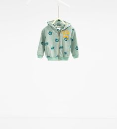 Image 1 of Sweatshirt with animal hood from Zara