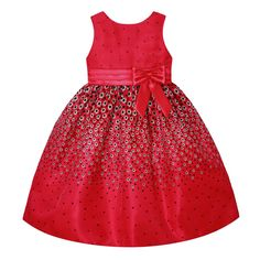 American Princess Holiday Red Sequin Mesh A-Line Dress - Toddler & Girls Toddler Girl Dresses, Girls Dresses, Summer Dresses, Toddler Girls, Pink Sequin Dress, Organza Dress, Festival Dress, Girl Fashion, Girl Outfits
