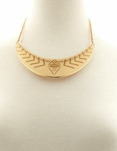 Tribal Cutout Collar Necklace: Charlotte Russe