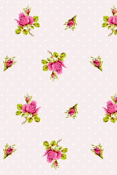 PiP Roses and Dots White wallpaper