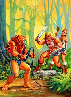 80s Masters of the Universe artwork