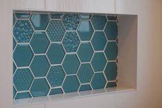 En-suite bathroom tile feature