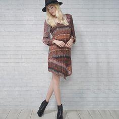Aposte no estilo boho para um look descontraído! #boho #Shoulder #vestido