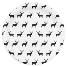 Deer - Black And White Paper Plates  sc 1 st  Pinterest & Electric Guitars - Black And White Paper Plates 9 Inch Paper Plate ...