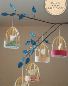 Vogelkooitjes knutselen met papier en karton - Hobby.blogo.nl