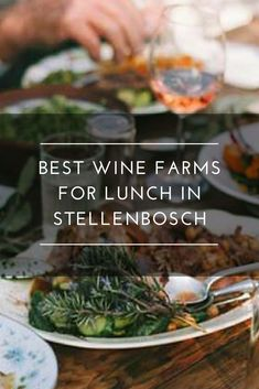 A visit to is one experience you shouldn't miss. Award-winning wines, delicious food, paired with spectacular surroundings, you are sure to have a fantastic time. Gourmet Recipes, Delicious Food, Green Beans, Wines, Lunch, Vegetables, Eat Lunch, Vegetable Recipes, Yummy Food