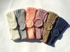 Easy Headbands, fingerless gloves, choker - multi-color view - CROCHET PATTERN ONLY----- Beginner's Luck Vol. 2 - on Etsy, $2.50