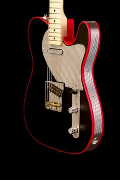 Red Rooster T-style electric guitar.