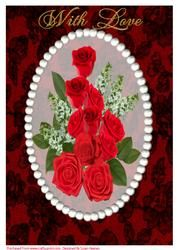 A4 Beautiful Red Rose Bouquet 3