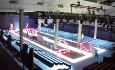 A minimalist, neon-lit skate park set the scene for the unveiling of Kris van Assche's A/W 2016 Dior Homme Collection earlier this week in Paris. Produced by Etienne Russo's Brussels-based studio Villa Eugenie, the composition of glowing red ramps ...