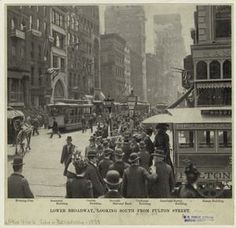 Lower Broadway, looking south from Fulton Street, 1899.