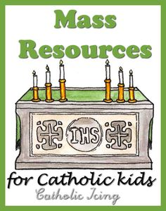 I wanted one place to share all of my Mass ideas for kids, so here you go- crafts, games, books, and other learning resources! Mass Books For Kids Mass book for Catholic kids: A Picture Book Of The... Ccd Activities, Religion Activities, Teaching Religion, Church Activities, Learning Resources, Learning Apps, Catholic Religious Education, Catholic Mass, Catholic Crafts