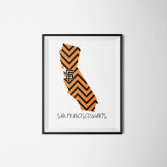 San Francisco Giants custom state printed design. Many different ways to customize this and make it your own! https://www.etsy.com/listing/216436908/limited-edition-san-francisco-giants