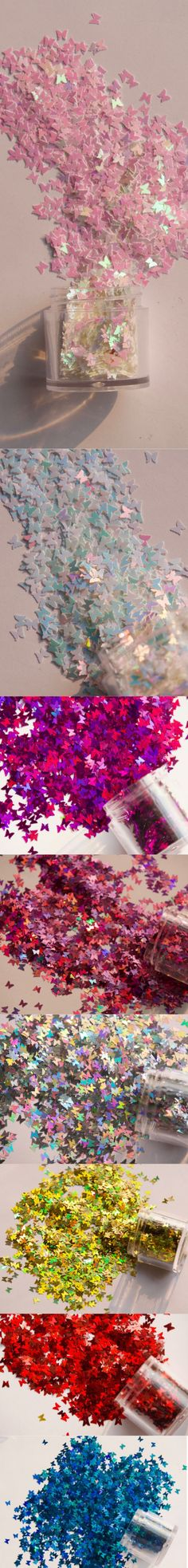 4 jars Halo Butterfly Glitter/ Nail Flakes DIY Laser Sequins/Fairy Tale rainbow starry butterflies nail polish UV gel/ resin crafts sequins Butterfly Nail, Nail Supply, Uv Gel, Resin Crafts, Glitter Nails, Fairy Tales, Nail Polish, Rainbow, Flakes