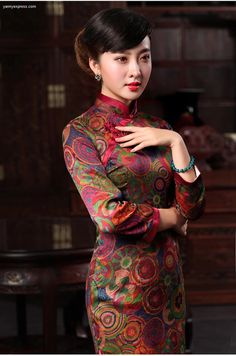 In the Mood for Love Blossoms Floral Silk Cheongsam
