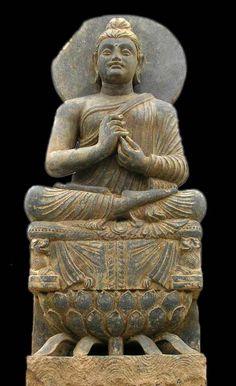 A teaching Buddha from Gandhara, c.100's-200's
