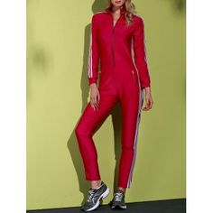GET $50 NOW | Join Dresslily: Get YOUR $50 NOW!http://m.dresslily.com/striped-long-sleeve-zippered-bodycon-jumpsuit-product1073236.html?seid=8bMtII21IjnCrhfr1jG61fl2fK