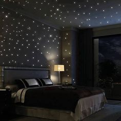 Bedroom Starry Night. The boys would love this in their rooms!